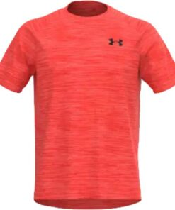 Herren Shirt UA-Tech-SS-Tee-venom-red