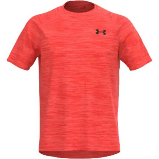 Herren Shirt UA-Tech-SS-Tee-venom-red